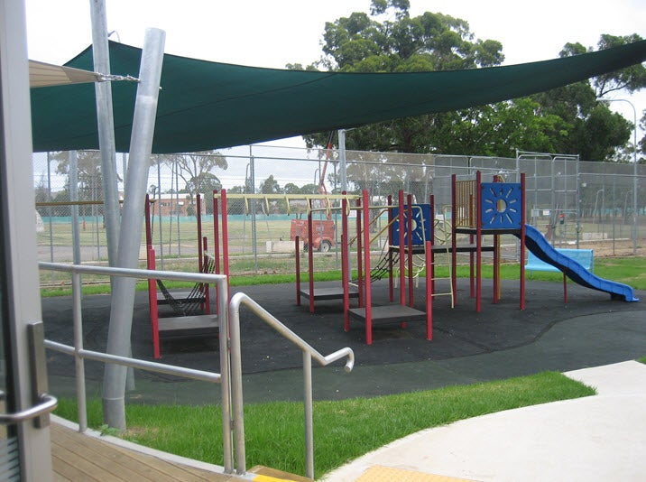 Children's playground in visitors' area for Hughes and Fowler compounds, Villawood IDC