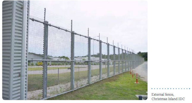 External fence, Christmas Island IDC