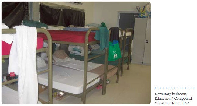 Dormitory bedroom, Education 3 Compound, Christmas Island IDC