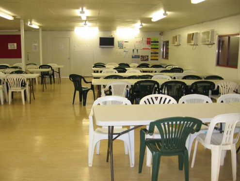 Main dining room, North 1 compound, NIDC
