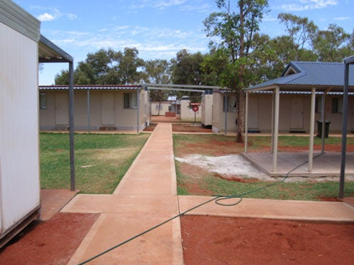 Accommodation blocks, Leonora immigration detention facility