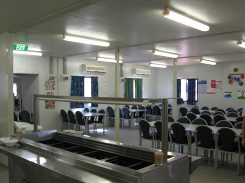 Dining room, Leonora immigration detention facility