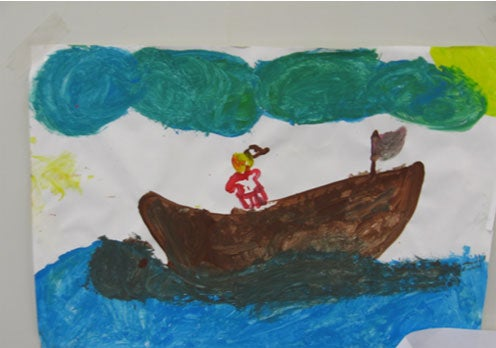 Photo: Picture drawn by child, Leonora immigration detention facility