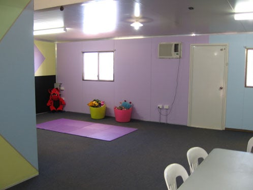 New crèche room (outside fence of Leonora immigration detention facility)