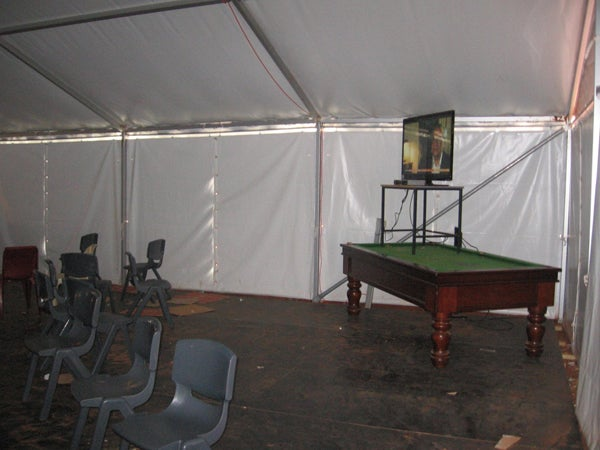 Marquee used for recreation, Curtin IDC