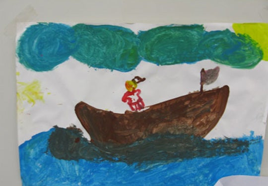 Child's painting, Leonora alternative place of detention (2010)