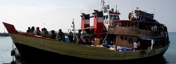 Asylum seeker vessel