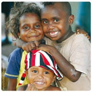 Picture of three Aboriginal children