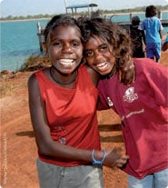 Picture of two Aboriginal girls