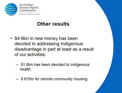 $1.6bn has been devoted to Indigenous health   $670m for remote community housing