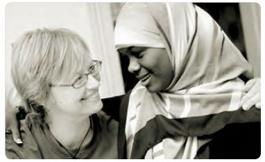 Mother with her Muslim daughter. (c) Belinda Mason