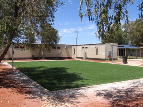 Volleyball court, Leonora immigration detention facility