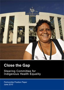 Close the Gap - Partnership Position Paper June 2010 Cover