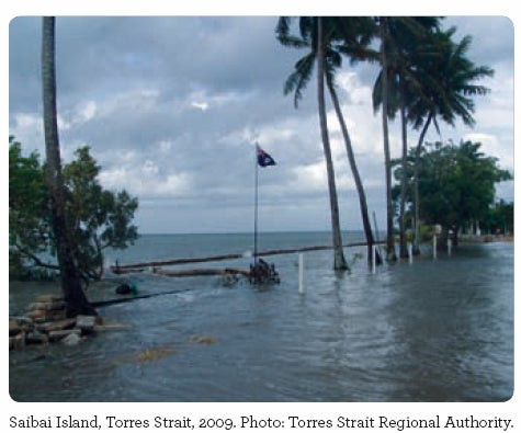Saibai Island, Torres Strait, 2009. Photo: Torres Strait Regional Authority.