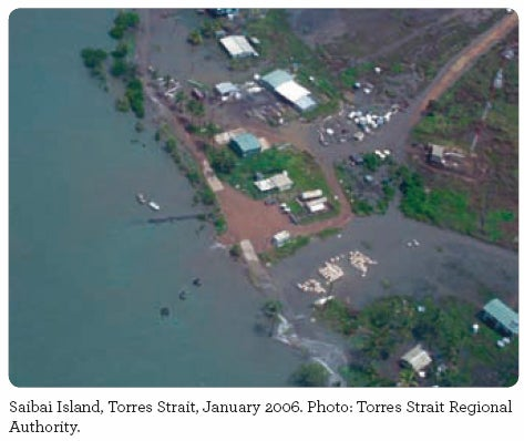 Saibai Island, Torres Strait, January 2006. Photo: Torres Strait Regional Regional Authority