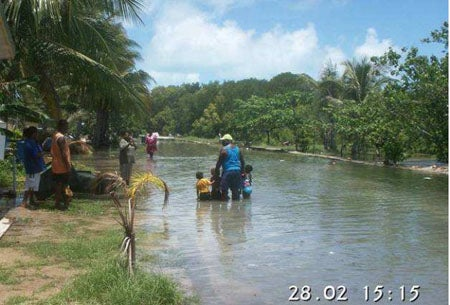 Water inundation in the Torres Strait – current and predicted