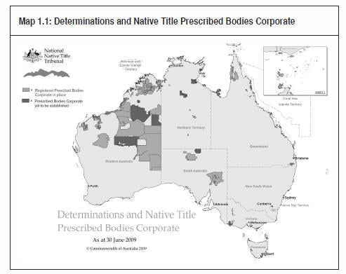 Map 1.1: Determinations and Native Title Prescribed Bodies Corporate