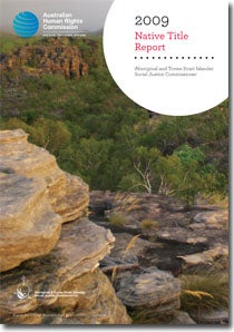 Native Title Report 2009 Cover