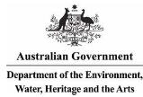 Australian Government - Department of the Environment, Water, Heritage and the Arts