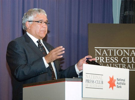 Social Justice Commissioner Mick Gooda at the National Press Club