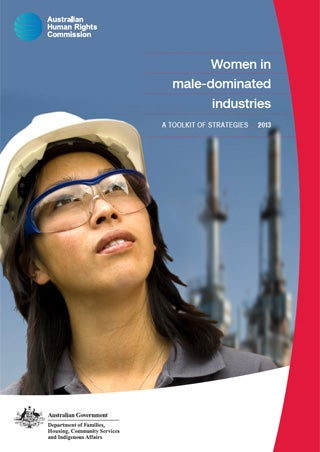 Cover - Women in male-dominated industries: A toolkit of strategies (2013)