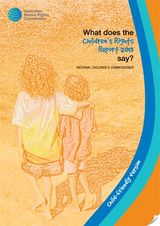 Children's rights report 2013 cover