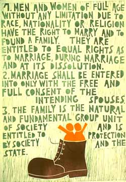 UDHR poster marriage and family