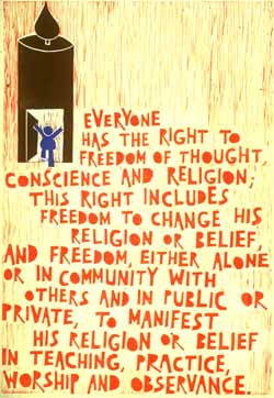 UDHR poster freedom of religion and belief