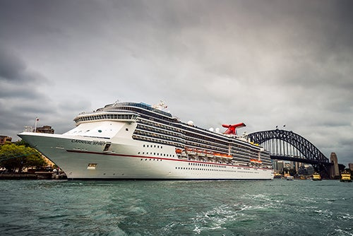stock photo of Carnival cruise ship in Sydney harbour