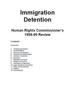 Cover of Review of Immigration Detention Centres