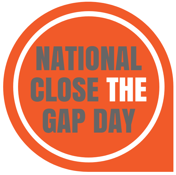 national close the gap day - button