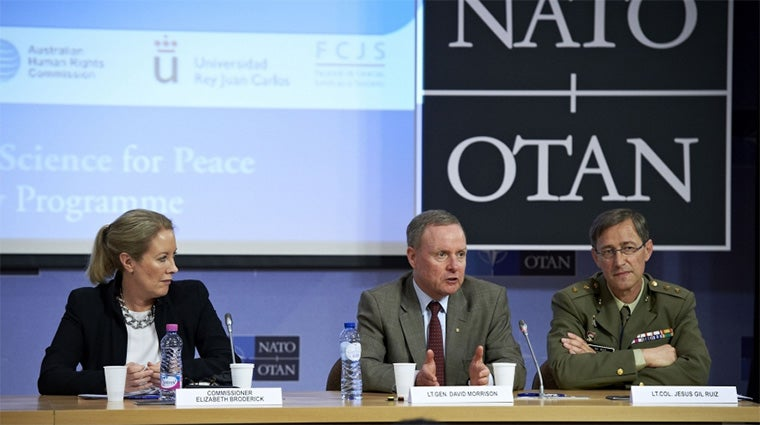 Elisabeth Broderick at NATO meeting