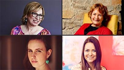 Australians of the Year: Rosie Batty, Jackie French, Drisana Levitzke and Juliette Wright