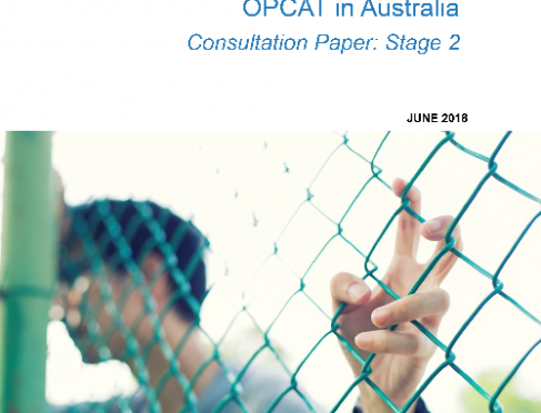 OPCAT in Australia stage 2 cover - boy behind fence