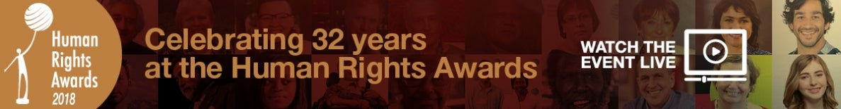 Watch the 2018 Human Rights Awards live!