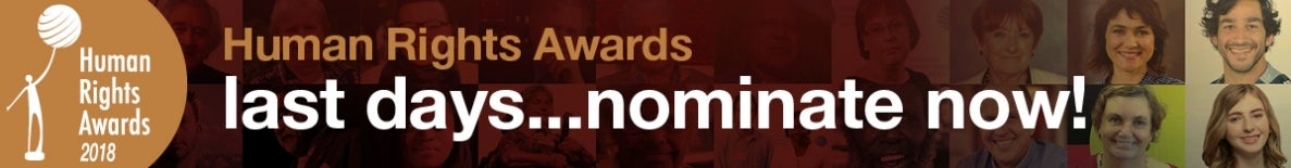 Human Rights Awards - Last days, nominate now!