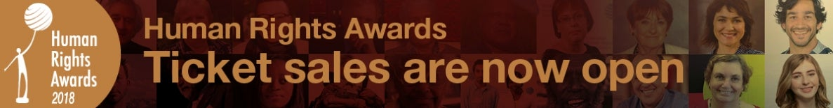 tickets now on sale for the Human Rights Awards