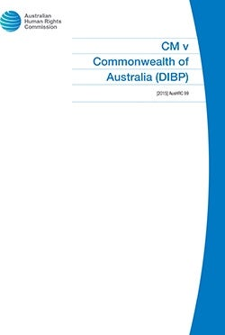 Cover of CM v Commonwealth of Australia [2015] AusHRC 99