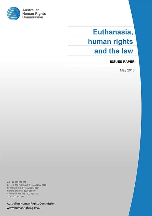 Euthanasia, human rights and the law | Australian Human