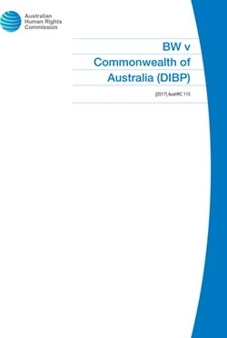 BW v Commonwealth of Australia (DIBP)