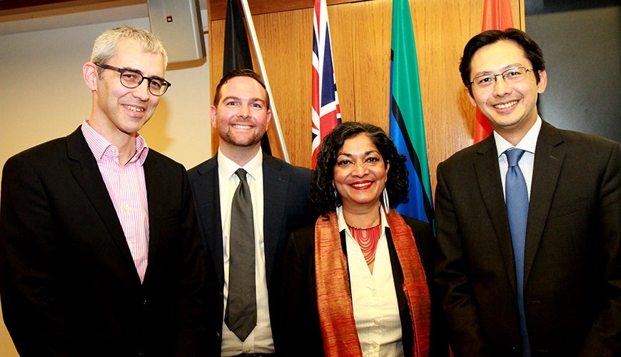 Commission Executive Director, Padma Raman, LexisNexis representatives and delegate from the Ho Chi Minh Academy of Politics