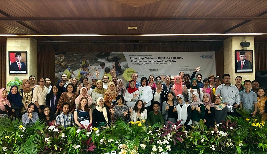 Megan Mitchell in Bogor with conference delegates