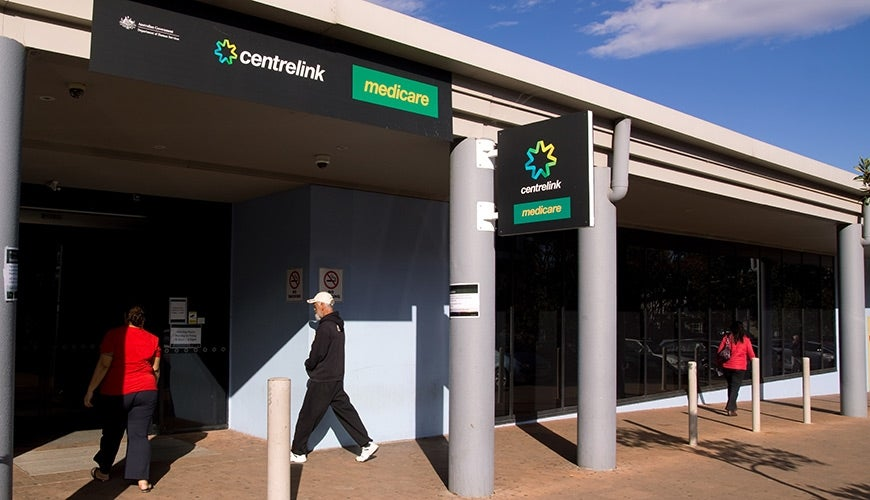 Entrance to centrelink and medicare building