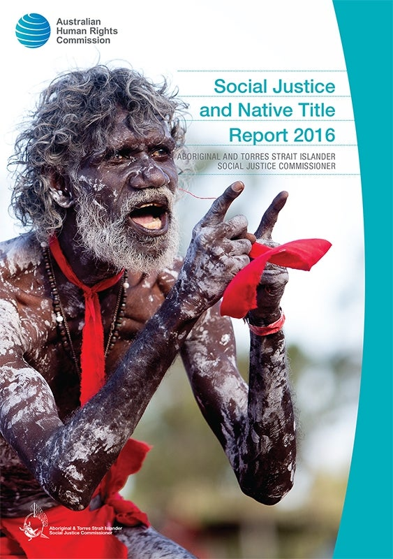 Social Justice and Native Title Report 2016 Cover image
