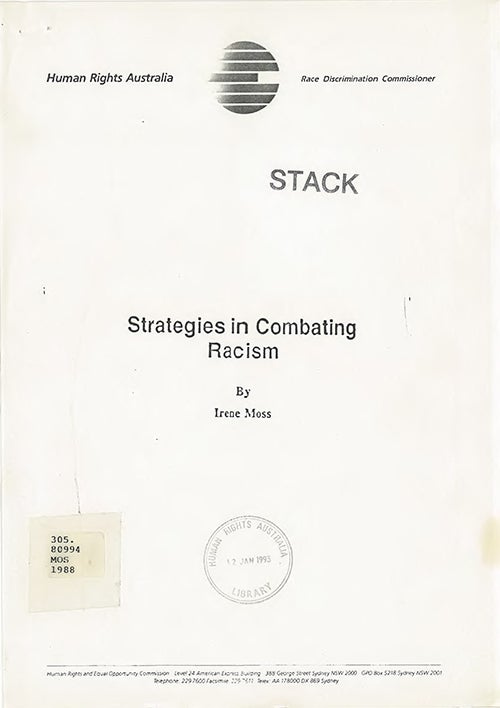 Scanned cover of Strategies in Combating Racism