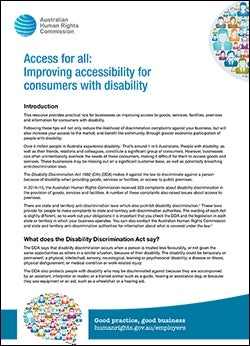Access for all: Improving accessibility for consumers with