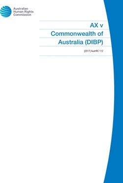 AX v Commonwealth of Australia (DIBP)