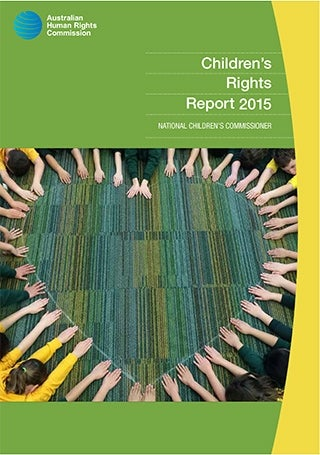 Cover of Children's Rights Report 2015 - children sitting in a circle