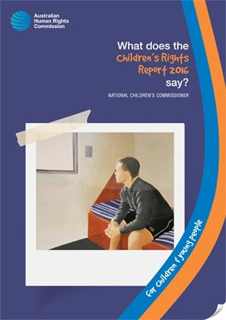 What does the Children's Rights Report 2016 say? (Cover image)