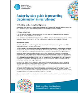 A step-by-step guide to preventing discrimination in recruitment